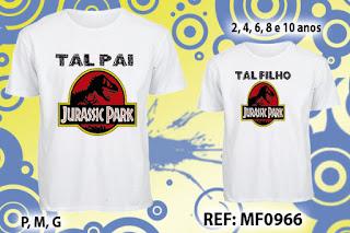Tal Pai Tal Filho Camisetas Personalizadas Jurassic