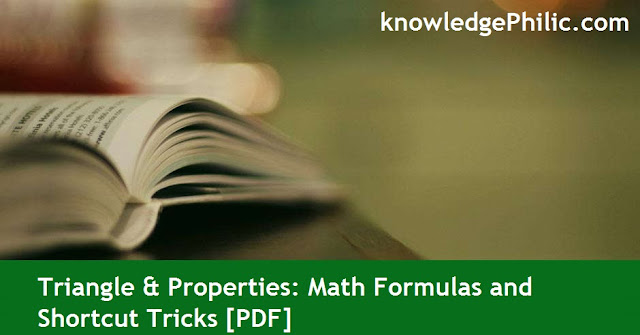 Triangle & Properties: Math Formulas and Shortcut Tricks [PDF]