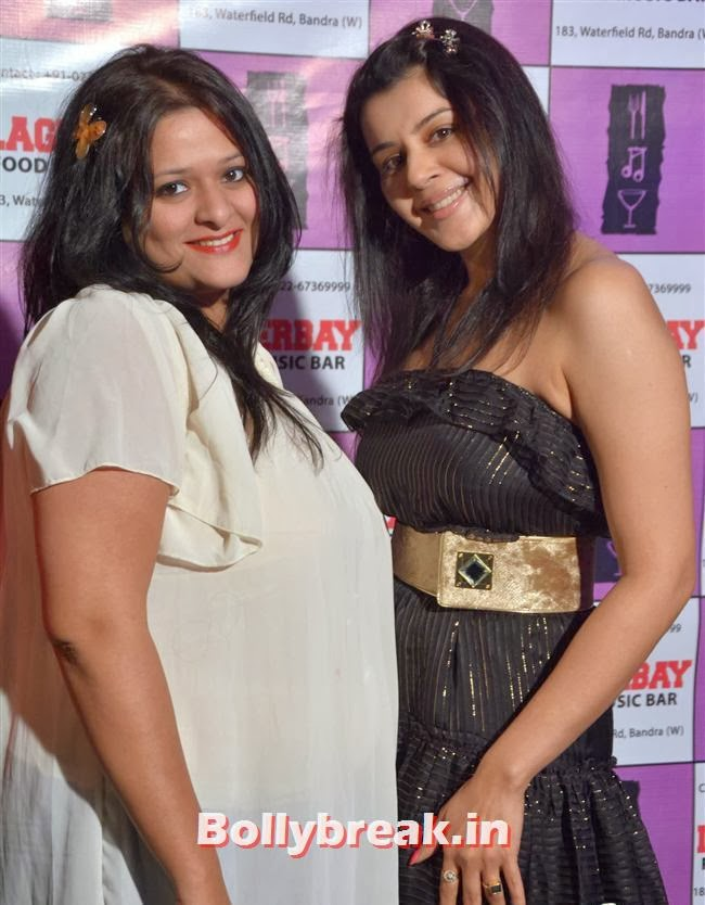 Kiara Khosla with a friend, Page 3 Celebs at Lagerbay New Menu Launch Party