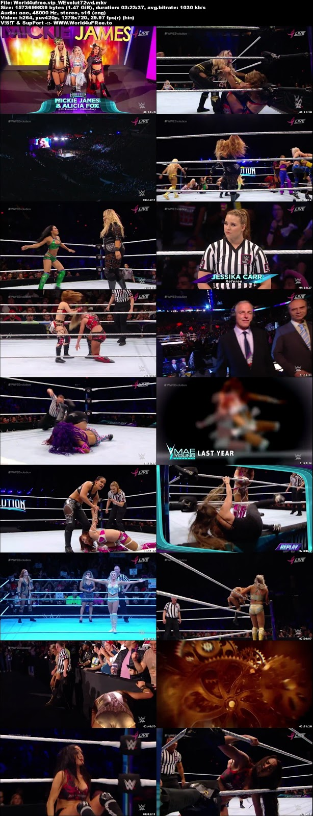 Wwe Evolution 2018 PPV 720p WEBRip 1.5Gb x264 tv show Wwe Evolution 2018 PPV 800mb 720p compressed small size free download or watch online at world4ufree.fun