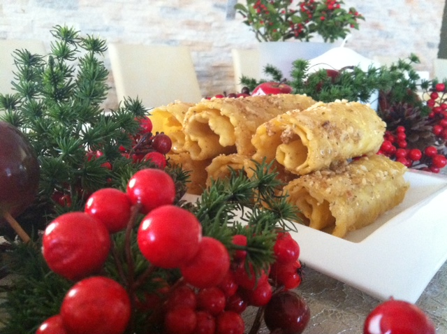 Ioanna's Notebook - Diples (Greek Christmas traditional dessert)