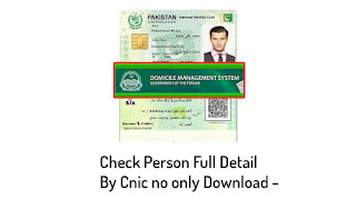 Check Online Punjab Domicile Verification Family Detail Person