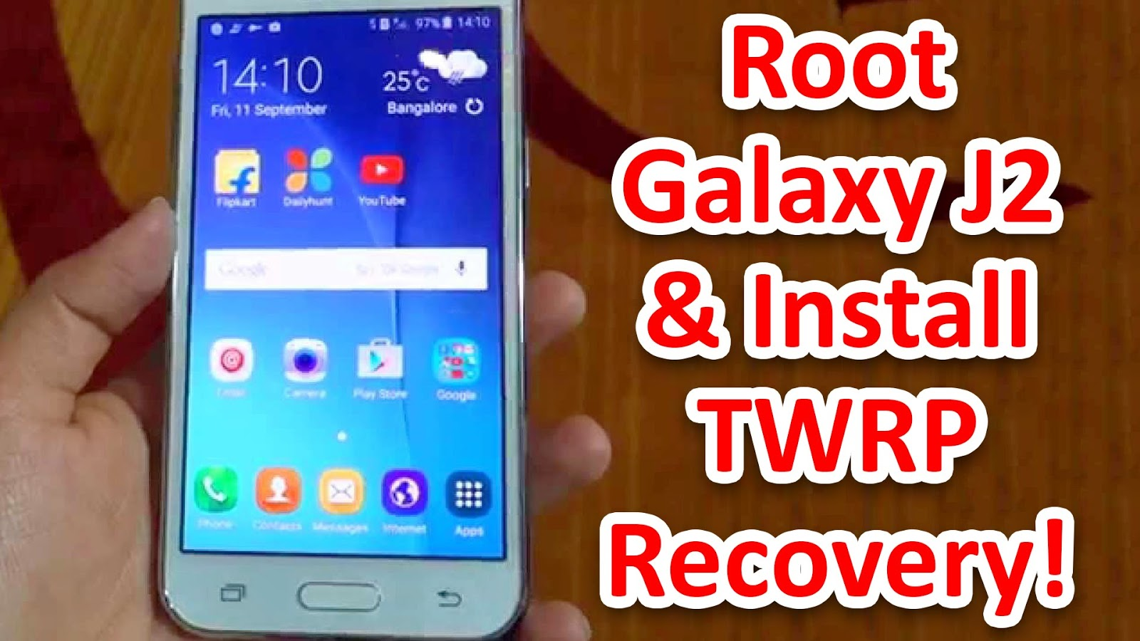 Cara Root dan Install TWRP Recovery Samsung Galaxy J2 Prime