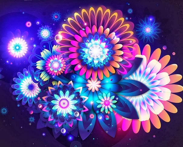 colorful awesome abstract flowers