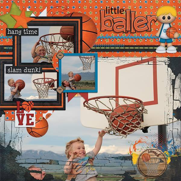 "BoomersGirl Designs: ""Slam Dunk"" Digital Kit"