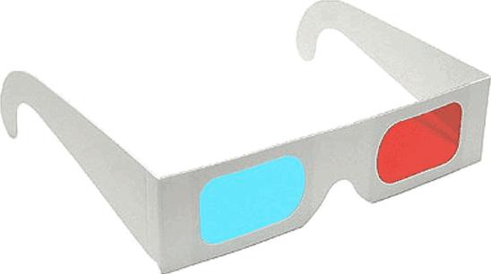 Occhiali anaglifici 3D