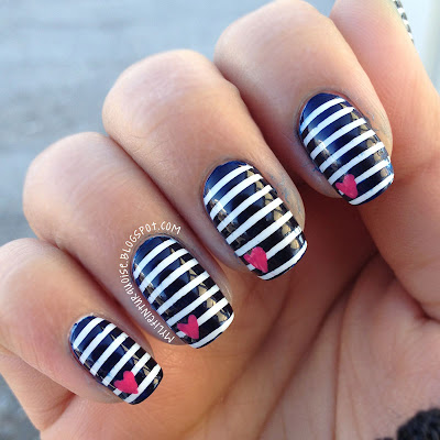 Nautical-Stripes-Nail-Art
