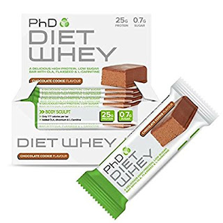 OFFER Chocolate Protein supplement : £11.49 for PhD Nutrition Diet Whey Bar, 50 gram