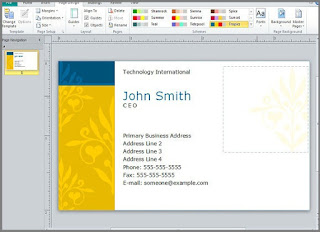 business card template word 2013