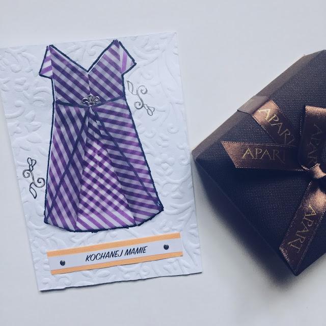 Kartka na Dzień Mamy z skuienką origami + zestaw ozdobnych napisów do wydrukownia