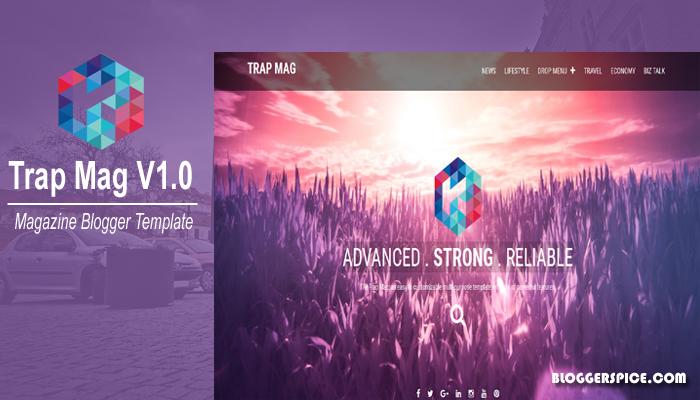 Trap Mag Premium Responsive Blogger Template