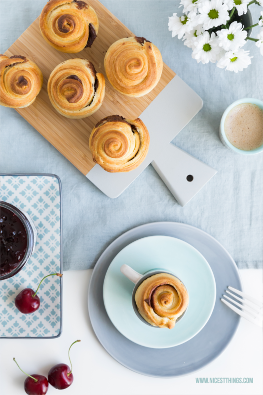 Mini Breakfast Brioches with Chocolate Filling