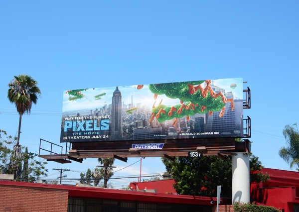Pixels Movie Centipede billboard