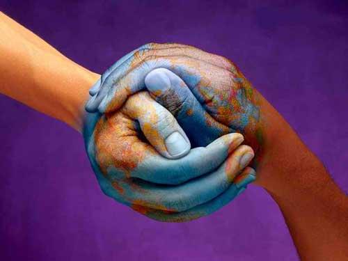 Dos Manos Unidas Dibujo