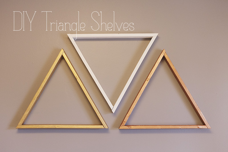 ... diy triangle shelves inspired by a beautiful mess the triangles are