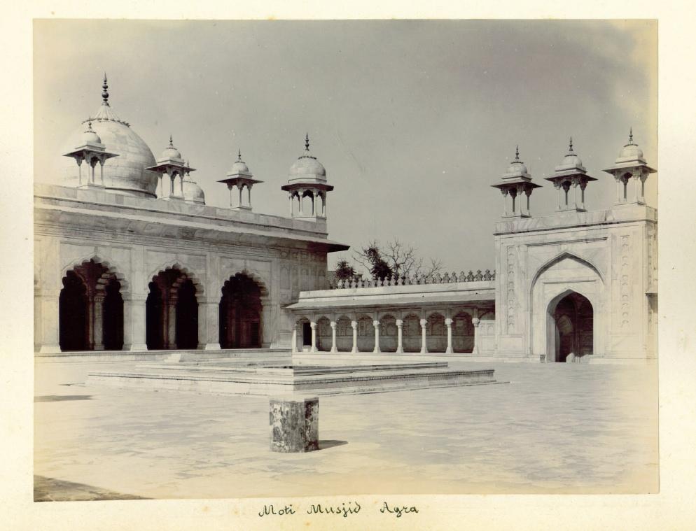 A Gelatin Silver Photograph of Moti Masjid Agra, Circa 1900's