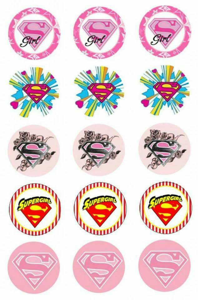 picture about Supergirl Logo Printable identify Supergirl: Free of charge Printable Stickers, Toppers or Labels. - Oh