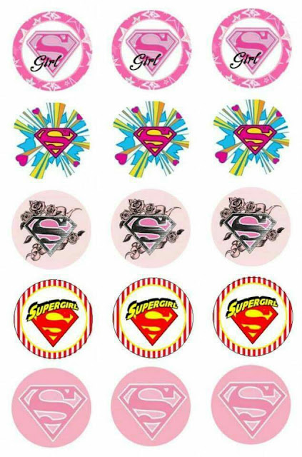 Super Girl: Free Printable Stickers, Toppers or Labels.