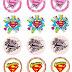 Super Girl: Stickers, Toppers o Etiquetas para Imprimir Gratis.