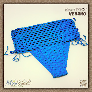 вязаное крючком Бикини СIRCULO Verano  плавки