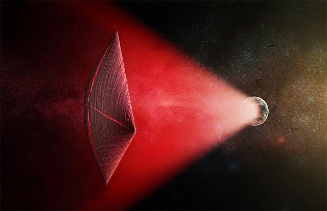 nave extraterrestre para viagem interestelar - ilustração