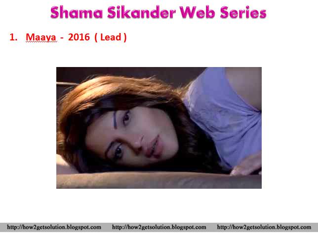 Smartpost: ShAmA SiKaNDeR: Movies List, Television Shows