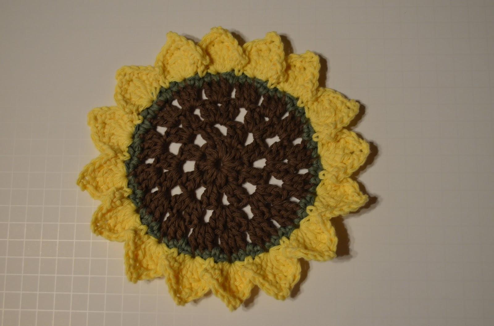 Wagon Wheel Sunflower Dish Cloth