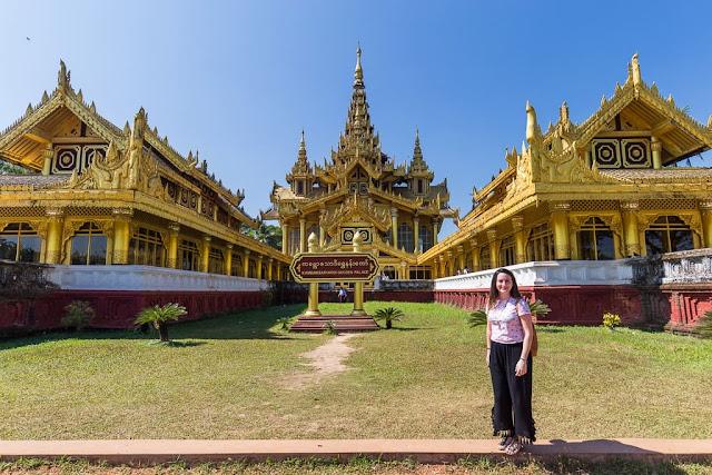Palacio de oro de Kambawzathardi, Bago, Myanmar