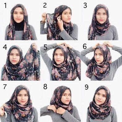 Inspirasi Cara Memakai Hijab Modern Kekinian 2016