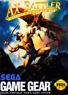 Cubierta del cartucho de Ax Battler para Game Gear, 1992