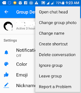 how do i remove myself from a messenger group android
