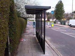 Bus type platform shelter for Rhiw