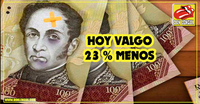 SORPESA! Régimen devaluó el Bolívar en 23 %