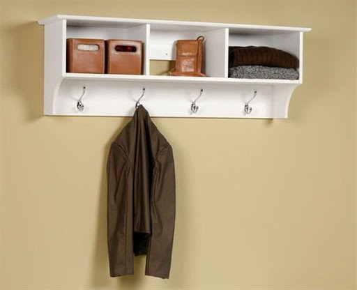 coat rack with storage