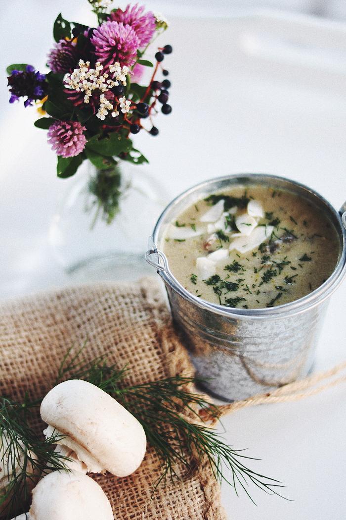 Zupa - krem z pieczarek