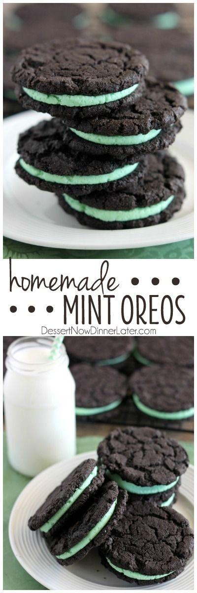 Homemade Mint Oreos