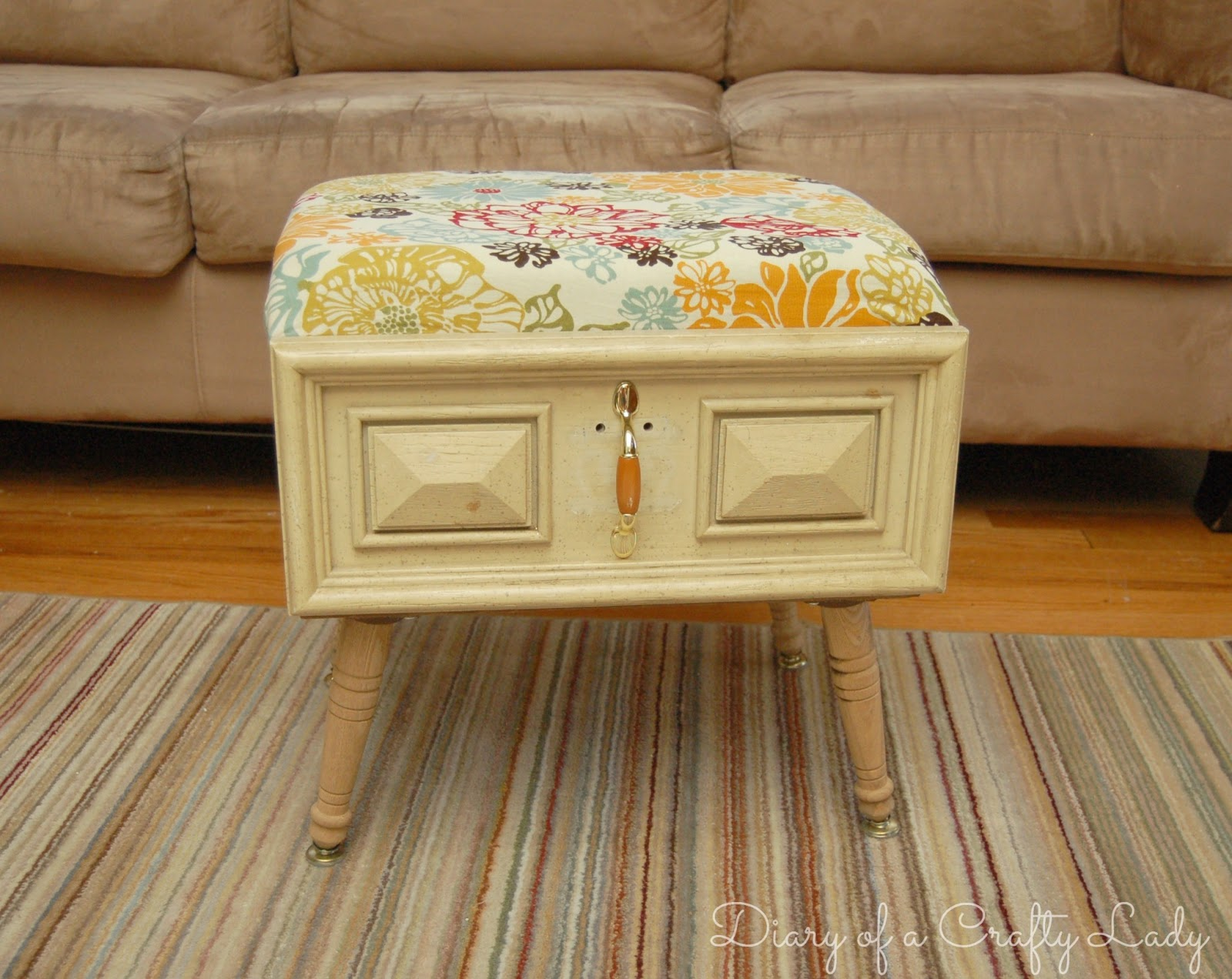 Diary of a Crafty Lady Old Drawer Ottoman