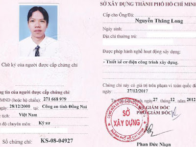 Chung chi hanh nghe giam sat co dien cong trinh xay dung