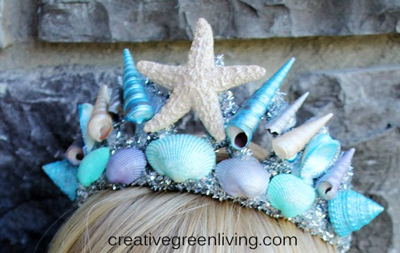 How to make a mermaid seashell crown