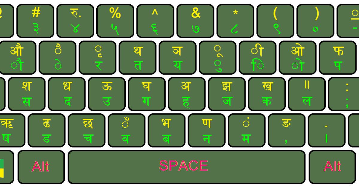 Nepali Nepal Romanized Layout Unicode Keyboard For Windows ~ Free