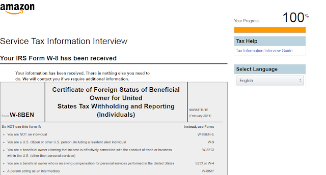 IRS form W-8