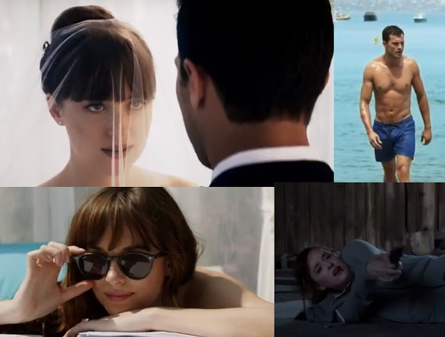 Still Images from recent release of teaser trailer of 'Fifty Shades Freed'