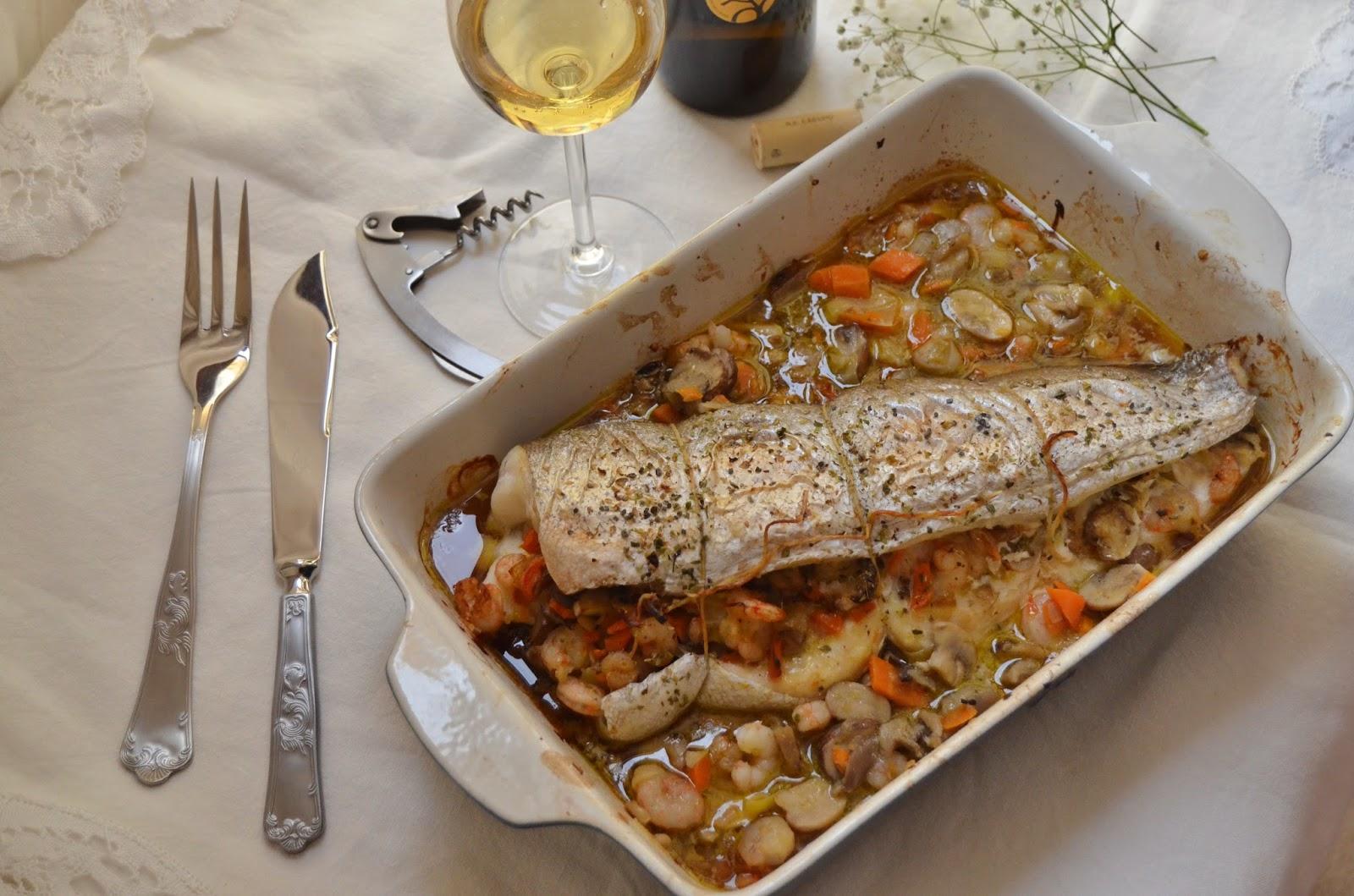 Merluza rellena al horno cuchillito y tenedor for Merluza rellena al horno