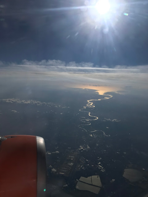 View of France from plane