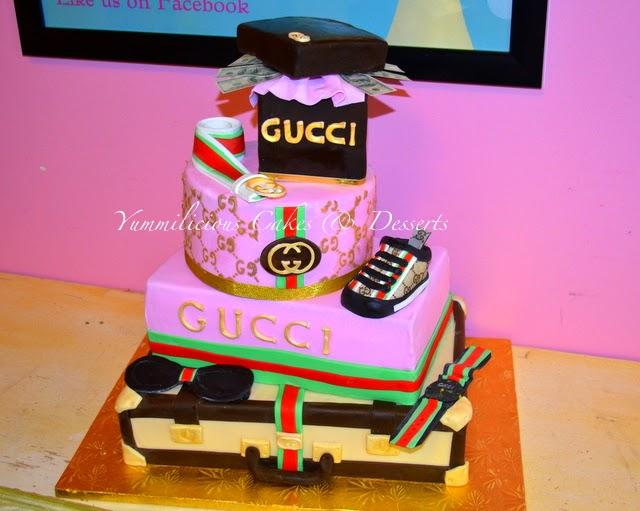 5e080cac3076 Yummilicious Cakes   Desserts  Gucci baby shower cake