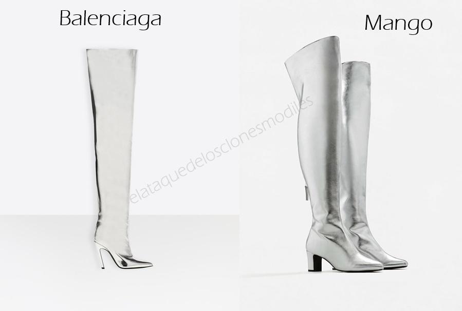 4dfd3d47fb3 Estas botas altas color plata de Mango (30€) similares a las de Balenciaga  (1595€)