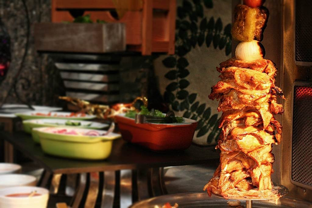 Arabian Delights Buffet at Diamond Hotel's Corniche shawarma