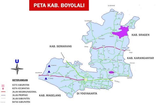 Peta Boyolali versi atlas