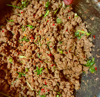 cooked mince filling