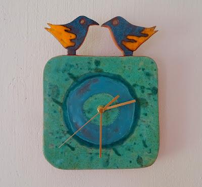 Zegar z ptakami